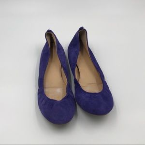 J Crew Made in Italy Cece Suede Ballet Flats 9